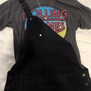 NEW Black distressed overalls